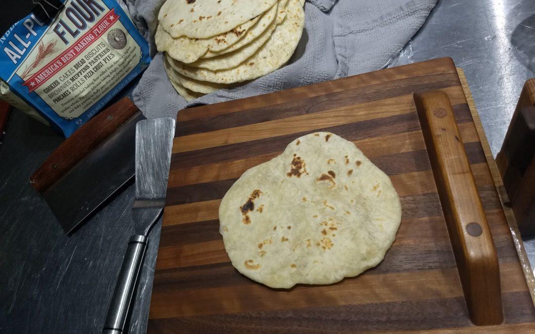 Easy Flour Tortillas